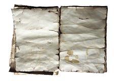 Vieja textura de papel del vintage, libro viejo Fotos de archivo