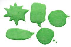 La imagen del playdough de la charla del globo en el fondo blanco Imagen de archivo libre de regalías