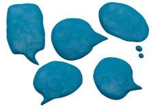 La imagen del playdough de la charla del globo en el fondo blanco Imagenes de archivo