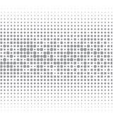 La imagen del vector de los puntos grises de diversos tamaños tiene diversa densidad en el blanco stock de ilustración
