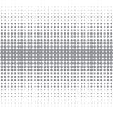 La imagen del vector de los puntos grises de diversos tamaños tiene diversa densidad en el blanco ilustración del vector