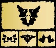 La imagen determinada del rorschach de la prueba Imagen de archivo