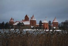 Palacio de Traikai Fotografía de archivo