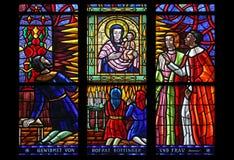 La imagen milagrosa de la Virgen y del niño Imagenes de archivo