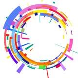 La imagen radial coloreada extracto 3D libre illustration