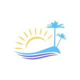 La imagen simbólica de la isla Fotos de archivo libres de regalías
