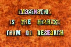La imaginación cree alcanza para crear para inspirar fotografía de archivo libre de regalías