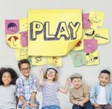 La imaginación juguetona del disfrute alegre del juego sueña concepto Fotografía de archivo libre de regalías