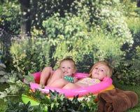 La immersione di un'estate calda Fotografia Stock Libera da Diritti