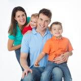 La importancia de ser familia Foto de archivo