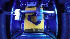 la impresión plástica del ABS de Timelapse de la impresora 3D, fabricación del diseño, CNC, máquina, producción modelo, tecnologí almacen de video