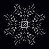 La impresión del applique del diamante artificial para la materia textil viste en lujo de la moda Fotografía de archivo