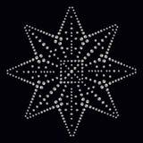 La impresión del applique del diamante artificial para la materia textil viste en lujo de la moda Fotografía de archivo libre de regalías