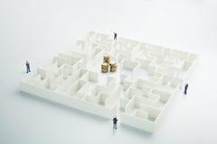 La incertidumbre del dinero y del negocio Imagen de archivo libre de regalías