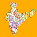 La India colorida Imágenes de archivo libres de regalías