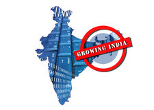 La India creciente Imagen de archivo