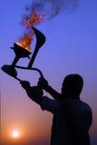 La India en la subida de Sun Foto de archivo