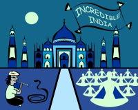 La India increíble stock de ilustración