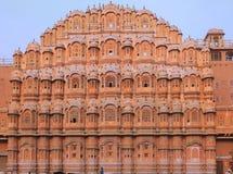 La India Jaipur Hawa Mahal el palacio de vientos Fotos de archivo libres de regalías