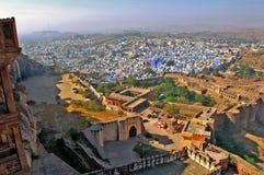 La India, Jodhpur: La ciudad azul Foto de archivo