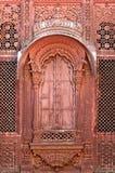 La India, Jodhpur: ventana en el palacio de Maradja Foto de archivo libre de regalías