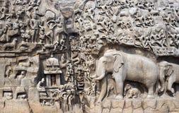 La India - Penance de Mamallapuram - de Arjunas Fotografía de archivo libre de regalías