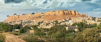 La India Rajasthán Fuerte de Jaisalmer - el sonar Kila Sone Ka Quila, va foto de archivo