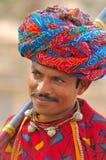 La India, Rajasthán: Turbante colorido Fotos de archivo libres de regalías