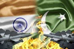 La India y Paquistán Imagen de archivo libre de regalías