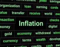 La inflación de las finanzas significa el crecimiento y ganancias de la inversión Imagenes de archivo
