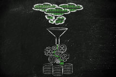 La informática y almacenamiento con la computación de la nube Imagen de archivo libre de regalías