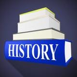 La información de la cronología de los medios de los libros de historia e informa Imagenes de archivo
