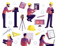 La ingeniería aisló el sistema ilustración del vector