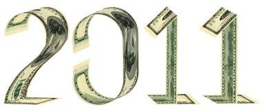 La inscripción 2011 hizo de billetes de banco Foto de archivo libre de regalías