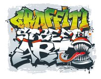 La inscripción del arte de la calle de la pintada El concepto de arte de la calle ilustración del vector