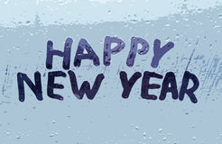 La inscripción y el x22; nuevo year& feliz x22; Fotos de archivo libres de regalías