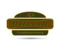La insignia con símbolo de la moneda del pedazo Imágenes de archivo libres de regalías