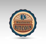 La insignia del vector con símbolo de la moneda del pedazo Fotos de archivo libres de regalías
