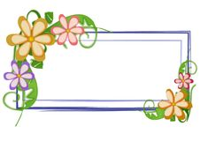 La insignia del Web page florece floral Imagen de archivo libre de regalías
