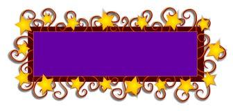 La insignia del Web page Stars remolinos Imágenes de archivo libres de regalías