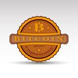 La insignia retra con símbolo de la moneda del pedazo Fotos de archivo