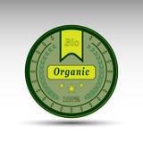 La insignia verde aislada vector Fotos de archivo libres de regalías