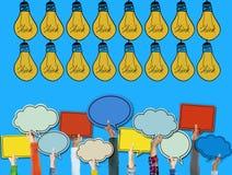 La inspiración de las ideas piensa concepto creativo del bulbo Imagen de archivo libre de regalías