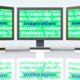La inspiración supervisa las demostraciones nuevas y las ideas originales Imágenes de archivo libres de regalías
