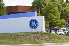 La instalación de aviación de General Electric IV imagenes de archivo