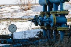 La instalación de la extracción de aceite Foto de archivo libre de regalías