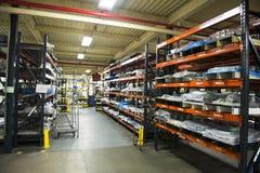 La instalación de Warehouse industrial de la fábrica de la fabricación Imagen de archivo