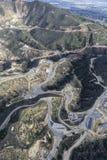 La instalación del almacenamiento de gasolina de la montaña de la avena Imagen de archivo libre de regalías