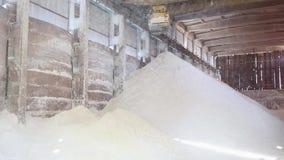 La instalación del almacenamiento del hidróxido de aluminio metrajes