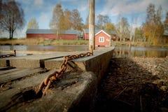 La instalación flotante de la madera Fotos de archivo libres de regalías